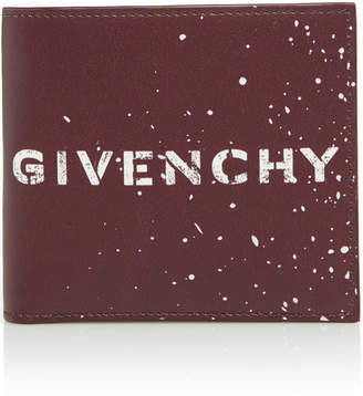 Givenchy Graffiti-Print Leather Billfold