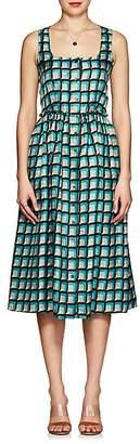 Barneys New York Women's Geometric-Print Silk Dress