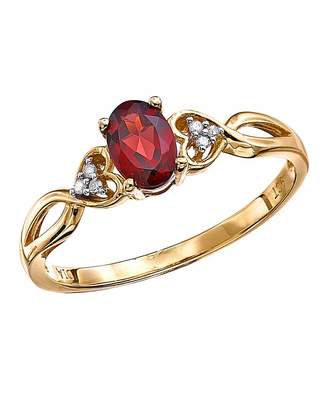 Marisota 9 Carat Gold Diamond Set Gemstone Ring