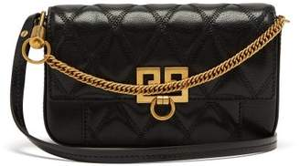 Givenchy Pocket Quilted Leather Cross Body Bag - Womens - Black