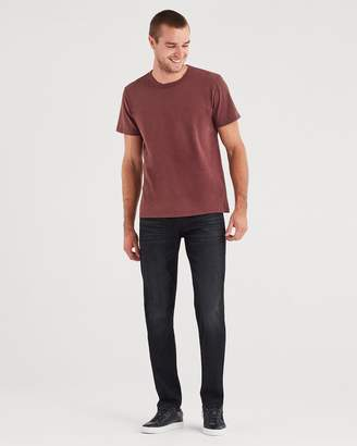7 For All Mankind Airweft Denim Adrien Slim Tapered with Clean Pocket in Black Tide