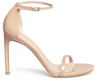 Stuart Weitzman 'Nudist Song' glitter lamé sandals