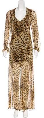 Reformation Animal Print Maxi Dress