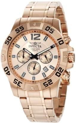 Invicta Men's 1504 Chronograph 18k Rose Gold Ion-Plated Stainless-Steel Watch