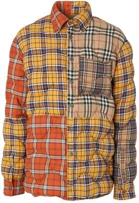 Burberry Contrast Check Puffer Overshirt