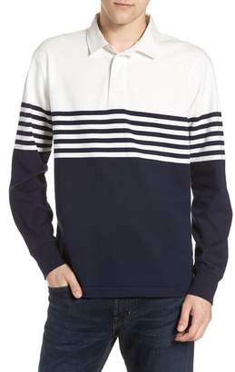 J.Crew 1984 Colorblock Stripe Rugby Shirt