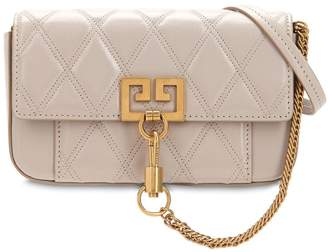 Givenchy MINI POCKET QUILTED LEATHER SHOULDER BAG