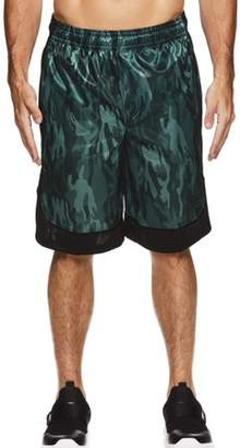 AND 1 AND1 Big Men's Polyester All Court Printed Camo Basketball Shorts