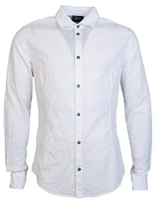 Armani Jeans Men's Slim Fit Long Sleeve Button Down Shirt