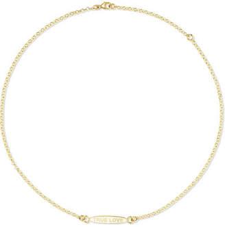 Foundrae - True Love 18-karat Gold And Enamel Necklace