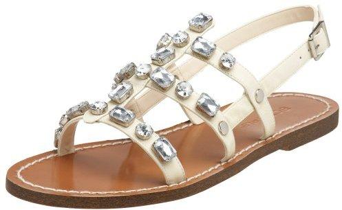 BCBGirls Women's Peony Flat Sandal,Soy,5.5 M US