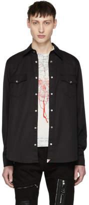Alexander McQueen Black Washed Cotton Shirt