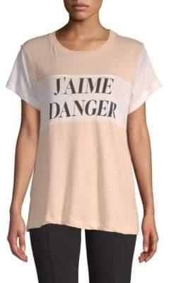 Wildfox Couture J'Aime Danger Cotton Tee