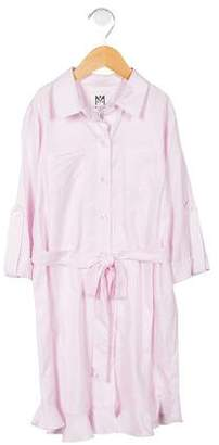 Milly Minis Girls' Fluted Button-Up Dress w/ Tags