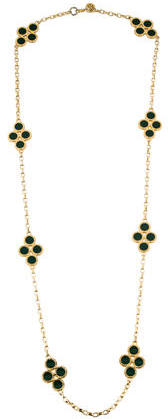 Tory BurchTory Burch Cole Enamel Clover Rosary Necklace