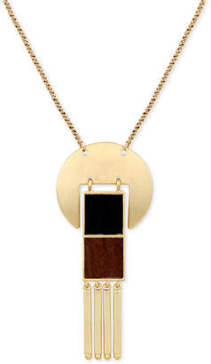 """Lucky Brand Gold-Tone & Wood 30"""" Pendant Necklace"""