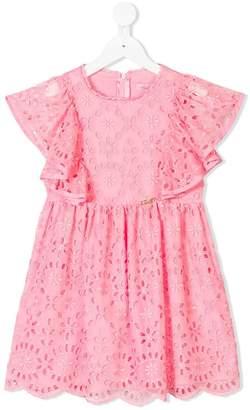 Miss Blumarine embroidered floral dress