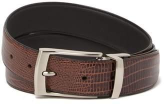 Boconi Reversible Lizard Embossed Leather Belt