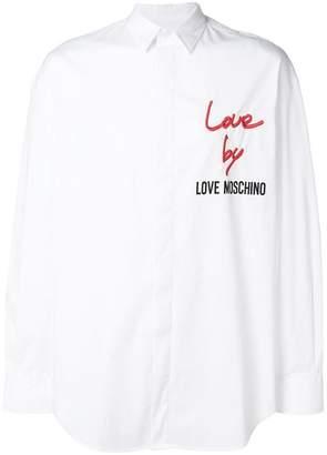 Love Moschino logo embroidered shirt