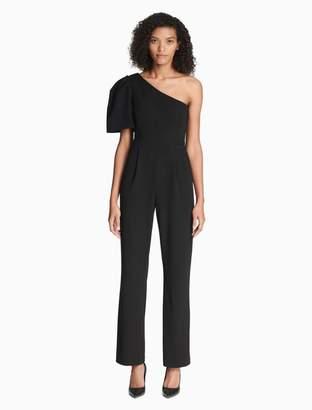 Calvin Klein one shoulder puff sleeve jumpsuit