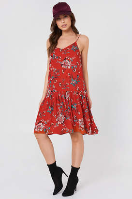 Rut & Circle Rut&Circle Fatima Dropped Waist Dress Red Combo