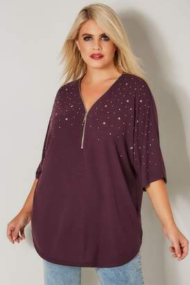 Next Womens Yours Neck Embellished Top