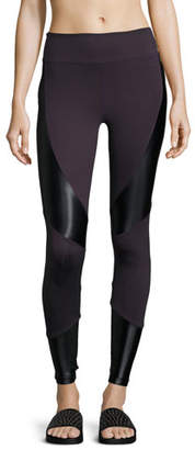 Koral Activewear Forge High-Rise Athletic Leggings, Purple/Black $120 thestylecure.com