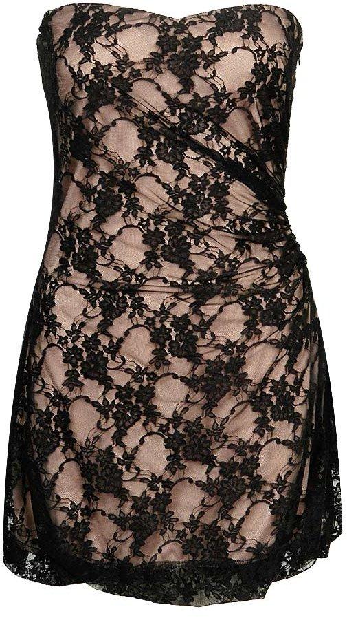 Vintage Lace Strapless Dress