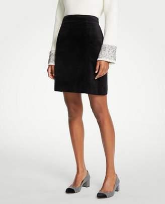 Ann Taylor Velvet A-Line Skirt