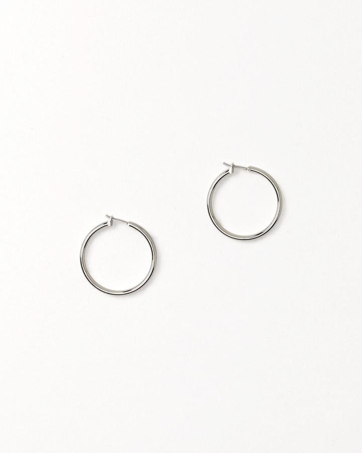 Solid hoop earrings