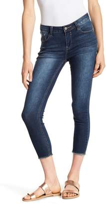 C & C California Frayed Hem Crop Skinny Jeans
