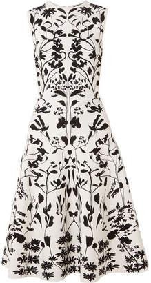 Alexander McQueen Stretch-jacquard Dress - White