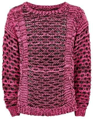 Topman Mens Neon Pink Knitted Jumper