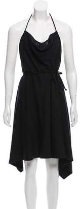 Donna Karan Wool Halter Dress