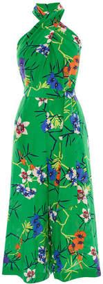 Karen Millen Floral Halterneck Jumpsuit
