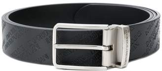 Emporio Armani All over logo belt