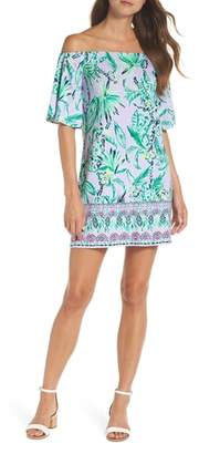 Lilly Pulitzer R) Fawcett Off the Shoulder Shift Dress