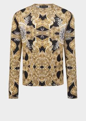 Versace Barocco Istante Silk Sweater