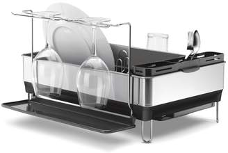 Williams-Sonoma Simplehuman Steel Frame Dishrack with Wine Glass Holder