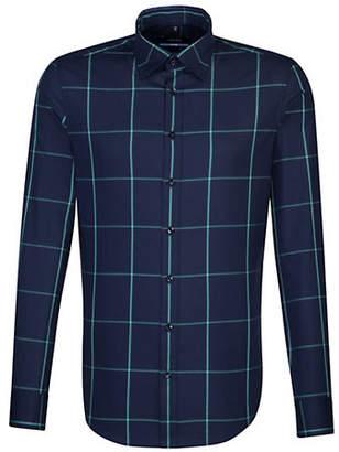 Seidensticker Windowpane Cotton Sport Shirt