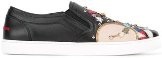 Dolce & Gabbana toy soldier patch slip-on sneakers $1,145 thestylecure.com