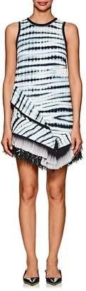 Proenza Schouler Women's Asymmetric-Hem Tie-Dyed Crepe Minidress