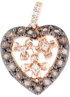 Le Vian 14K Diamond & Smoky Quartz Heart Pendant $295 thestylecure.com