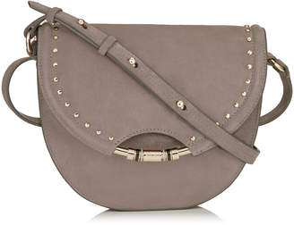 Jimmy Choo CHRISSY Dark Grey Suede Cross Body Bag