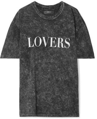 cdde0b4ce6f3 Amiri Lovers Oversized Printed Acid-wash Cotton-jersey T-shirt - Black