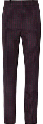 Balenciaga Slim-Fit Checked Twill Trousers