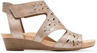Cobb Hill Hollywood Perforated Leather Wedge Sandals