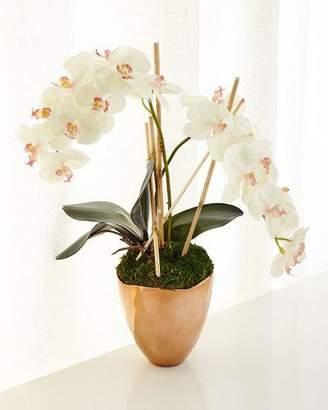 John-Richard Collection Rose Gold Faux-Orchid Arrangement