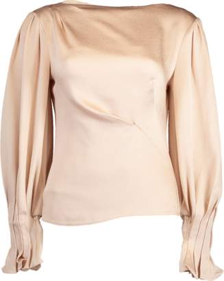 Peter Pilotto Hammered Satin Draped Blouse