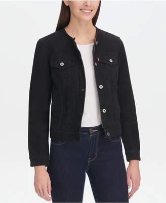 c1485ed9c4d20 Levi s Cotton Collarless Denim Jacket